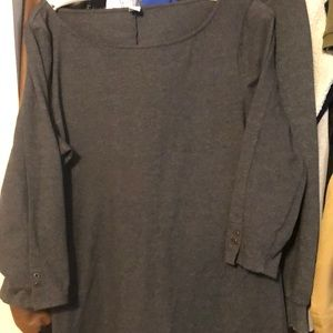 Grey dress with 3/4 sleeves